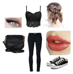 Out to dinner by whiterose0211 on Polyvore featuring polyvore, fashion, style, Frame Denim, Converse and Michael Kors