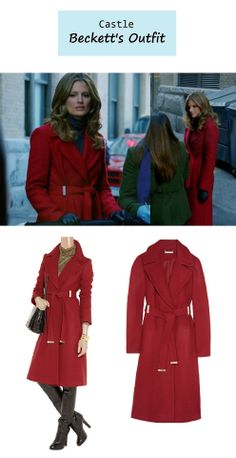Kate Beckett's (Stana Katic) red belted coat | Castle - she has the best jackets... and this one is RED!