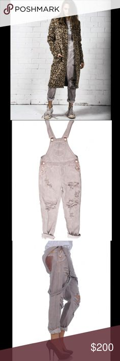 🎈$89TODAY🎈 One Teaspoon distressed denim overall Awesome overalls are a low waist short rise semi-relaxed tapered leg overall. Double folded twisted cuff option to unroll. Mostly heavily distressed through the front panels exposing the pocket lining. Distressing varies between styles. Button opening at side seams. 332174 color is taupe   Size: 27  ❤I have over 300 new with tag Free People & More items for sale! I love to offer bundle discounts!  ❤No trades. I no longer discuss pricing in…