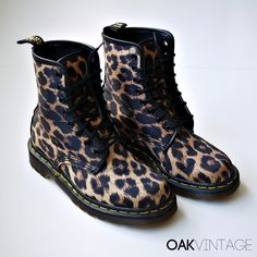 Leopard Print Doc Martens Boots appeal my love of all things leopard