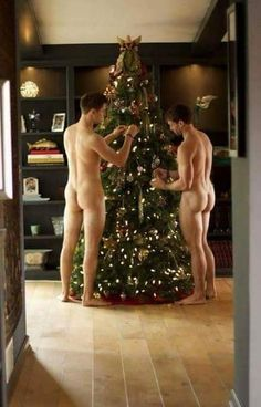 Christmas nude males are