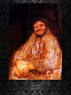 Ritók Lajos Oilpainting, portré, Olajfestmény