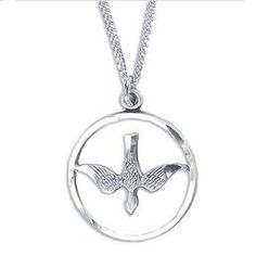 Sterling Silver Dove Holy Spirit Necklace
