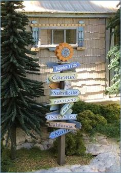 "1/4"" Sign Post Kit - Oh, the places we've been! How many miles from there to Pickett Pond? We include some fun signage as well as blank signs for you to add you"