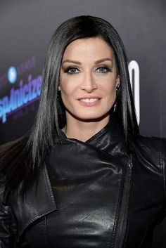 "Dayanara Torres at the ""Desierto"" screening in Los Angeles, California on October Puerto Rico, Dayanara Torres, Height And Weight, Beautiful Women, Leather Jacket, Celebs, Actresses, Hair, Latina"