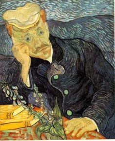 Vincent Van Gogh - Portrait of Dr. Gachet, oil on canvas, private collection. Paul Gachet was the dr. Who took care of Van Gogh the last years of his life. Renoir, Van Gogh Pinturas, Vincent Van Gogh, Art Van, Jackson Pollock, Gustav Klimt, Van Gogh Arte, Städel Museum, Museum Shop
