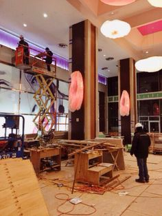 Working on our new Riu Plaza New York full of color! Teamwork, Hotels, Desk, Interior Design, Luxury, Color, Furniture, Home Decor, Nest Design