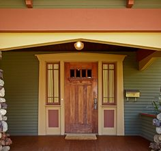 Pasadena Bungalow with Original Woodwork - Old-House Online ~♥~ I LOVE THE COLORS OF THIS HOME ~♥~