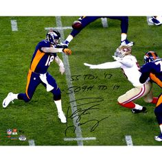Peyton Manning Denver Broncos Fanatics Authentic Autographed 16'' x 20''  Horizontal Navy