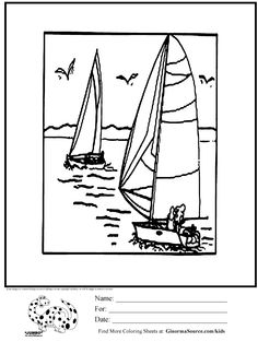 olympic sailing coloring page
