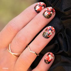 These Wickedly Cool Disney Jamberry Nail Wraps Are Perfect for Halloween and Any Season. | Queen of Hearts + Alice in Wonderland nail art | [ http://di.sn/60008DmN0 ]