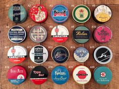 Vintage typewriter ribbon tins great for packaging by Shelbyville
