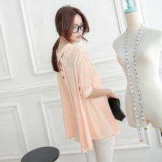 Buy 'Tokyo Fashion – Elbow-Sleeve Cross-Back Chiffon Shirt' with Free International Shipping at YesStyle.com. Browse and shop for thousands of Asian fashion items from Taiwan and more!