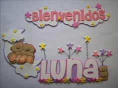 Dibujos en fomi para baby shower - Imagui Foam Crafts, Diy And Crafts, Paper Crafts, Banners, Baby Shawer, Butterfly Party, Baby Boy Shower, Baby Shower Decorations, Party Themes