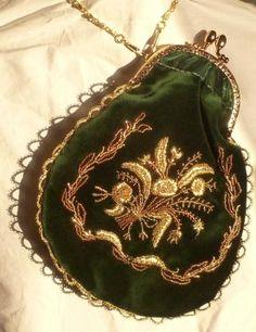 Empiretäschchen, diesmal kein Original sondern ein Teil von mir von 2012 nach einem Original von 1810