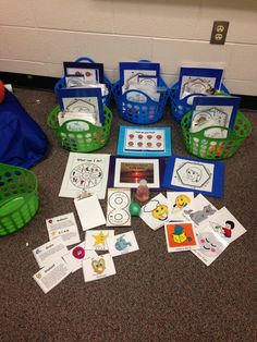 Calm Down kits for first grade. Use in a classroom Safe Spot.