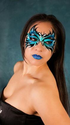 Jay Bauistia design ~Tauna, I'd do different lip stuff~ Face Painting Images, Adult Face Painting, Face Painting Designs, Body Painting, Mask Face Paint, Face Paint Makeup, Body Makeup, Color Contacts For Halloween, Extreme Makeup