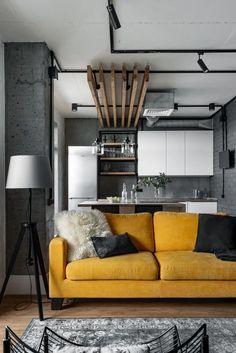 Apartment Interior, Apartment Design, Living Room Interior, Home Living Room, Living Room Decor, Loft Design, Home Room Design, Home Interior Design, Interior Decorating
