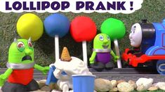 Learn Colors with Play Doh Lollipops Botbots funny Funlings and Thomas The Tank Engine. The Funlings are delivering Play Doh Lollipops with Thomas but someon.