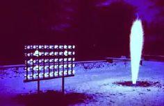 - KLEIN Yves (1928-1962), Mur de feu et Sculpture de feu, Krefeld, 1961. Yves Klein, Art Nouveau, Epoch, French Artists, Art Plastique, Sculpture, Fountain, Pop Art, Art History