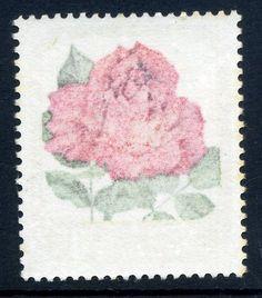 NZ Error 1975 8c Rose green & red offset on back, the best Roses offset, stunning