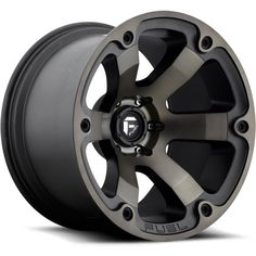 FUEL OFF-ROAD WHEELS 1 PIECE Beast - Black & Machined with Dark Tint Wheels. Check if this wheel fits your vehicle or select any of the available size, bolt pattern and offset options. Jeep Wheels, Off Road Wheels, Truck Wheels, 20 Wheels, Tacoma Wheels, Gold Wheels, Chrome Wheels, Rims For Cars, Rims And Tires