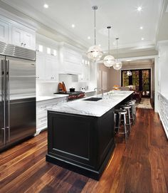 Long Kitchen Island - Transitional - kitchen - The Design Company