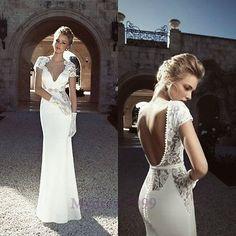 New Sexy Wedding Dress Bridal Gown Lace Custom Size2-4-6-8-10-12-14-16-18+