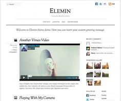 Elemin has great sense of typography, good white space balance, and minimal graphics. It is a piece of art crafted with modern technology — Google font, CSS3, Javascript and HTML5. WordPress post formats was incorporated which allows you to write about various post types such as photo, gallery, video, quote, etc. (very much like Tumblr). The design is completely fluid and responive. This means the layout automatically adapts based on the user's viewport. The layout never breaks no matter of…