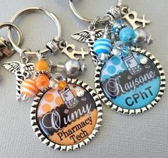PHARMACIST keychain pharmacy technician instructor by buttonit