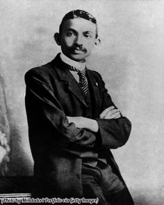 Historical Pics‏ @HistoricalPics  20s21 seconds ago  More   Mahatma Gandhi as a young lawyer, India, 1893.