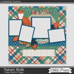 09-03-15 Freebie Quick Page Created by CT Deanna using Nature Walk from Connie Prince  Available at Designs by Connie Prince blog: scrapinfusions.blogspot.com