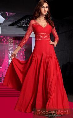 情熱のスペインレッド!ヒラリと舞い踊るマタドールロングドレス♪ - ロングドレス・パーティードレスはGN|演奏会や結婚式に大活躍!