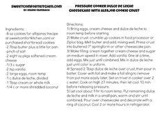 sweetcomfortkitchen: Dulce de Leche Cheesecake with Alfajor Crust (electric pressure cooker recipe)