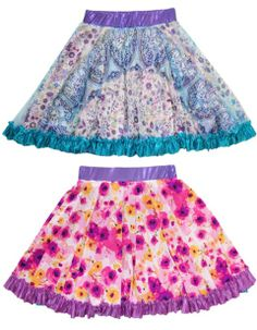 Reversible skirts for girls from TwirlyGirl.  SHOP HERE.