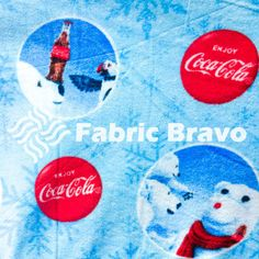 Coca Cola Snow Bear Anti Pill Fleece Fabric 60 por FabricBravo