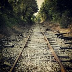 """Railroad Tracks in Athens, GA \ """"Who's that coming down the tracks . . ."""""""