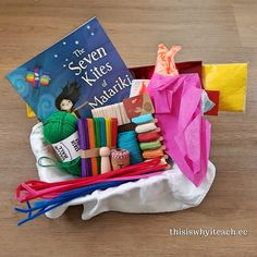 This is a little different to my other story baskets as it contains materials to make the kites and of course a peg doll. Kites are one of the ways Matariki is celebrated. Preschool Books, Book Activities, Preschool Activities, Sisters Images, Hands On Learning, Early Literacy, Kites, Pre School, Early Childhood