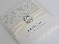 Luxury Handmade Wedding Invitation (Charlotte) x 1 sample on Etsy, $6.56