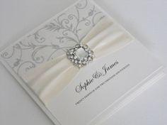 Luxury Handmade Wedding Invitation (Charlotte) x 1 sample on Etsy, $6.56