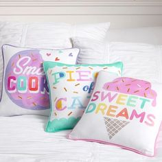 Sweet Tooth Sentiment Pillow Covers