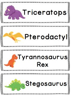 Dinosaur Literacy and Math Activities for Kindergarten - Dinosaur word wall vocabulary cards