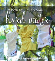 Do you have hard water?  Is it impacting your cloth diapers?  Not every detergent is designed to work well with hard water, and this article will help you make sure your diapers are truly getting clean, no matter your water type!