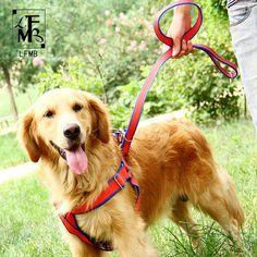 [LFMB] Dog Harness Dog Pet Leash Soft Nylon Dogs Harnesses Show Lead Pet Dogs Leash Harness For Large Show Lead Harnais Chiena #Affiliate