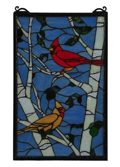 Meyda X Cardinals Morning Stained Glass Window Stained Glass Quilt, Tiffany Stained Glass, Stained Glass Birds, Stained Glass Panels, Stained Glass Projects, Stained Glass Patterns, Leaded Glass, Paper Mosaic, Mosaic Art