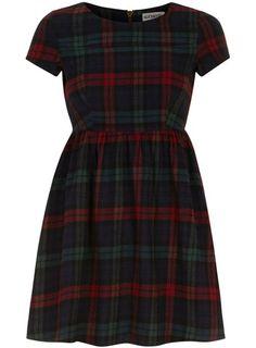 Navy tartan tunic tee dress - View All Dresses
