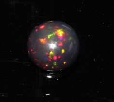 1.34 Crts Natural  Ethopion Welo Fire Opal Black Cabochon 5094