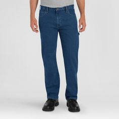 Dickies Men's Relaxed Fit Straight Leg Flex Carpenter Jean