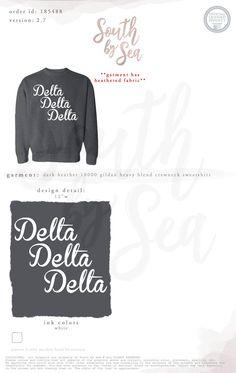 Kappa Kappa Gamma  Kkg  Block Letter TShirt Design  South By