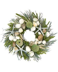 """16"""" Ocean Potion green wreath by Seaside Wreaths. May be a good Mother's Day gift...!"""